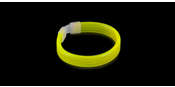 Glowsticks Wide Bracelet Yellow