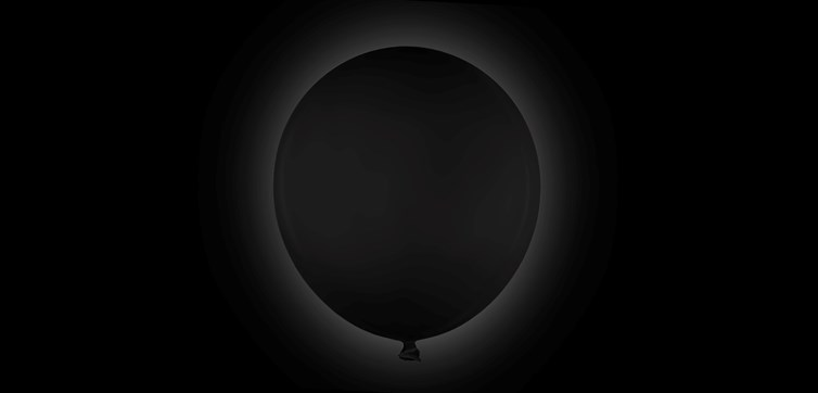 Giant Black Balloon 80 cm