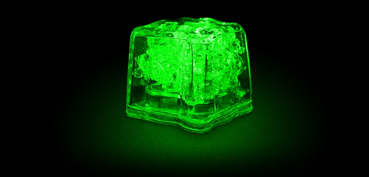 LED Ice cubes Green