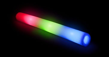 LED foamsticks Blue/Red/Green